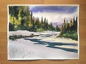 Obrazy - Obraz - Zima V lese - 10045330_