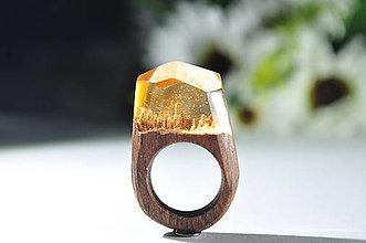 Prstene - Drevený prsteň Orange - 10048070_