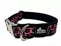 Pre zvieratká - Obojok Pink Leopard softshell - 10045732_