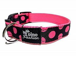 Pre zvieratká - Obojok s ružovými bodkami - 10045459_
