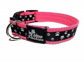 Pre zvieratká - Obojok Labky na ružové - 10045664_