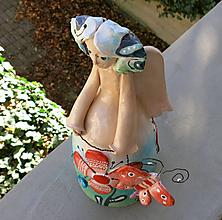 Bábiky - Nežný anjel s motýľom - maľovaný zvonec -výstava - 10048289_