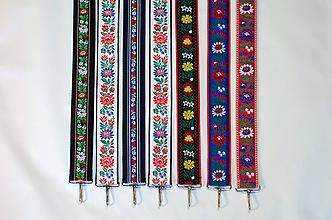 Iné tašky - Jenoduchý folk popruh na kabelku šírky 4 cm - 10046061_