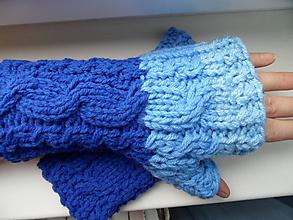 Rukavice - bezprstové rukavičky hrubšie - 10047176_