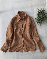 Košele - Dámska ľanová košeľa ADELE - 10044501_
