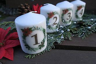 Drobnosti - Dekoračné vianočné sviečky - 10045627_