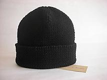 Čiapky - Black beanie - 10044325_