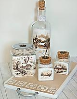 Nádoby - Zimná chalúpka set do drevenice AKCIA - 10045539_