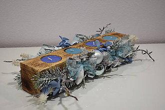 Dekorácie - Adventný svietnik: Mrazivé Vianoce 30407 - 10044464_