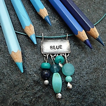 Náhrdelníky - Farebný svet - modrá - 10045120_
