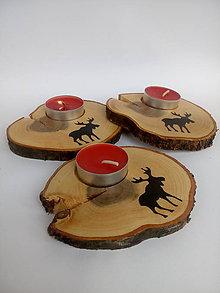 Svietidlá a sviečky - Drevený svietnik SOB - 10047843_