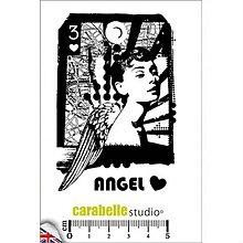 Pomôcky/Nástroje - Carebelle Studio Angel Heart - cling razítko - 10046896_