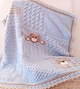 Textil - Detská ručne pletená deka - 10045686_