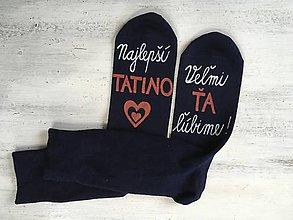 Obuv - Maľované ponožky pre najlepšieho ocka/mamku - 10048060_