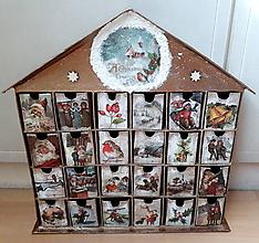 Dekorácie - Adventný kalendár Retro Vianoce 2 - 10045229_