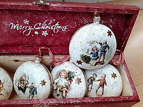 Dekorácie - Vianočná sada ozdôb Merry Christmas - 10045397_