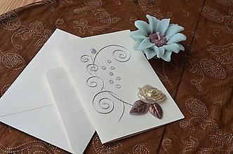 Papiernictvo - Pohľadnica - trblietavé vianoce - 10048042_