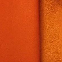 Suroviny - Exkluzívna koža - oranžová - 10047553_