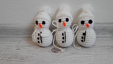 Dekorácie - snehuliačiky SET 3 ks - 10047950_