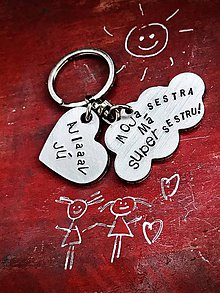 Kľúčenky - MOJA sestra má SUPER sestru :) NEW tvar OBLÁČIK - 10053213_