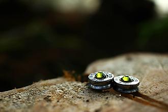 Náušnice - ...strelené... nerez oliv - 10050270_