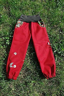 """Detské oblečenie - Softshellové kalhoty """"šneci"""" vel.86-122 - 10052563_"""