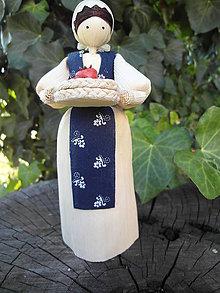Dekorácie - Šúpolienka s jabĺčami v ošítke - 10050668_