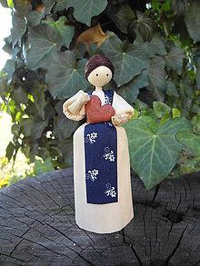Dekorácie - Šúpolienka - dievčatko so srdiečkom - 10051150_