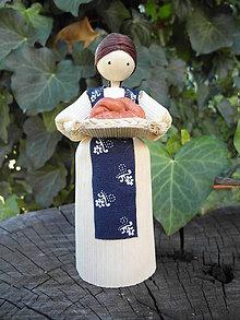Dekorácie - Šúpolienka - dievčatko s vianočkou - 10051215_