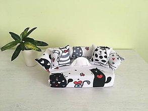 Krabičky - Predaný Obal na servítky - Mačka a myš - 10050281_