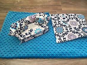 Úžitkový textil - Deka Vzorovaná modrá - 10050575_