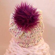 Čiapky - Melirovaná neon čiapka - 10052472_