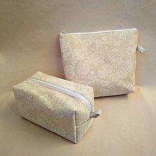 Taštičky - Kozmetická taška - set (Biela) - 10052532_