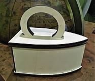 Polotovary - Žehlička - drevená dekorácia /čistá - 10053233_