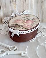 Krabičky - krabička s ružičkami - 10051192_