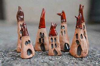 Dekorácie - Usmej sa na mňa: Keramické figúrky (Domčeky) - 10049841_