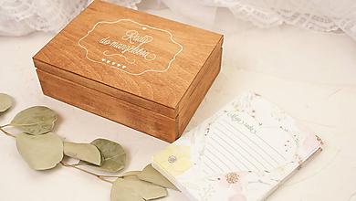 Krabičky - Drevená krabička rady do manželstva - 10049662_