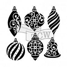Pomôcky/Nástroje - Šablóna na maľovanie TCW Vianočné ozdoby - 10051268_