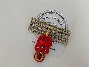 Náhrdelníky - Choker (Červená) - 10049618_