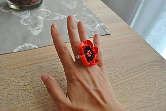 Sady šperkov - Maky - sada náušnice a prsteň - 10051747_