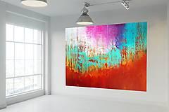 Obrazy - Vo víre listov - XXL abstraktný obraz - 10051702_