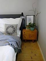 Úžitkový textil - Ľanový vankúš - ručne maľovaná perokresba - 10051009_