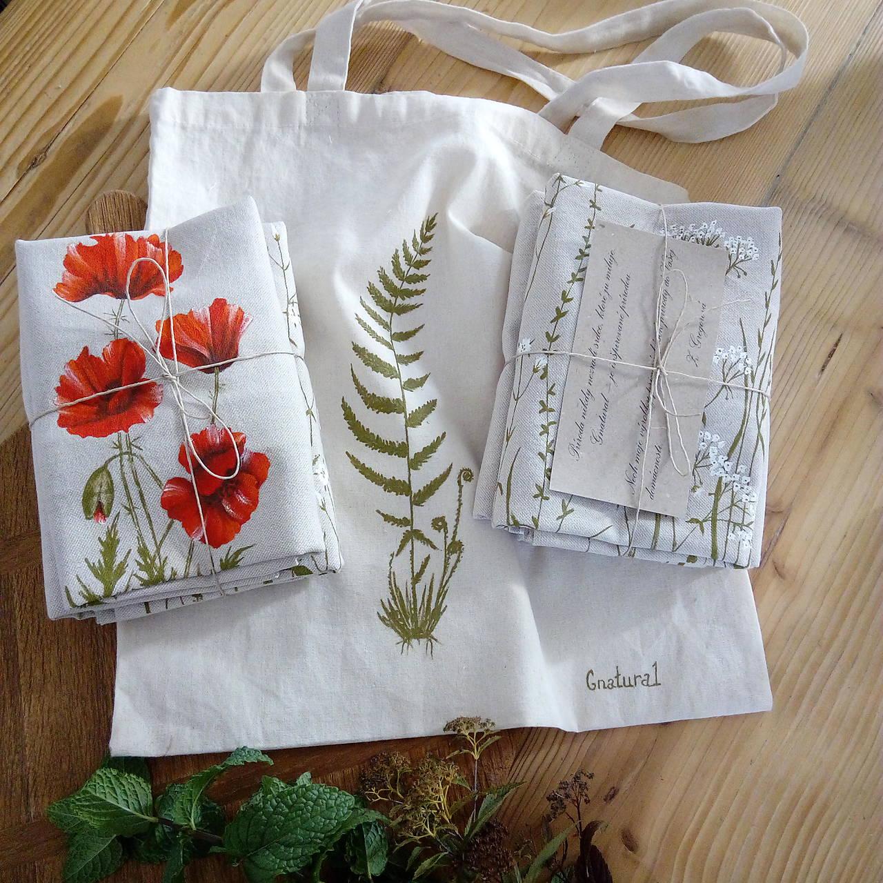 Ručne maľované vankúše v darčekovom balení