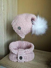 Detské čiapky - Pudrovoružová - 10052460_