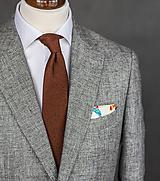 Doplnky - Pánska kravata z vlnenej látky - 10050594_