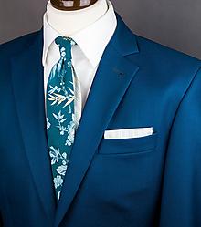 Doplnky - Pánska Twin kravata s kvetmi - 10050431_
