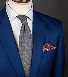 Doplnky - Pánska kravata z vlnenej látky vzorovaná - 10050733_