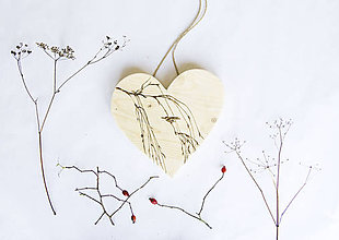 Dekorácie - Srdce na dvere - Sedím na konári - 10050303_