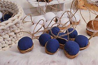 Dekorácie - Vianočné oriešky  (Modrá) - 10050560_
