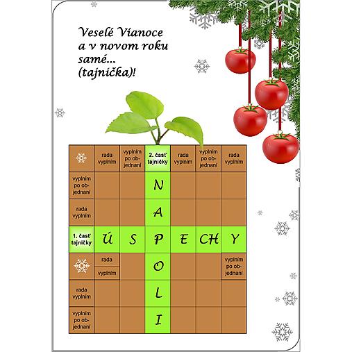 Vianočná pohľadnica pre pestovateľov